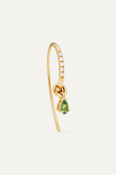 Yvonne Léon - 18-karat Gold, Tsavorite And Diamond Earring