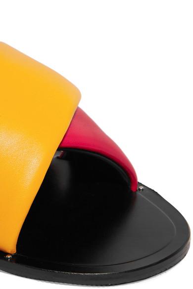 Rag & Bone Keaton Lederpantoletten In Colour-block-optik