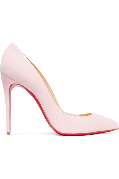 Pigalle Follies 100 Suede Pumps - Baby pink Christian Louboutin CBZ2Op0Pv