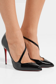 Jumping 100 patent-leather pumps
