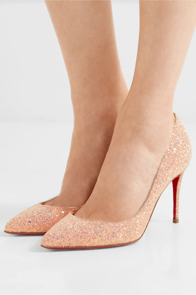 low priced 4b6eb 5e4e9 Christian Louboutin | Pigalle Follies 85 glittered leather ...