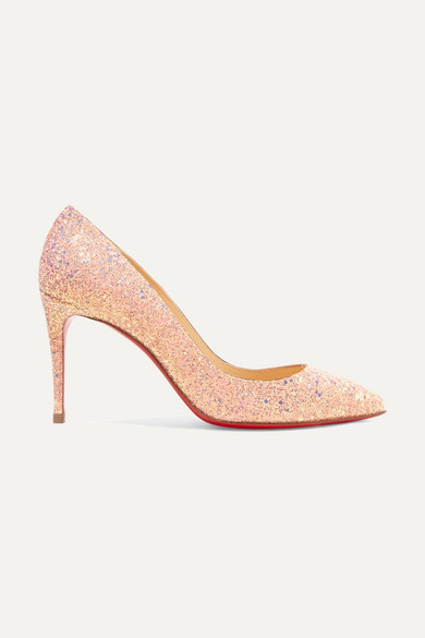 PIGALLE FOLLIES 85 GLITTERED LEATHER PUMPS