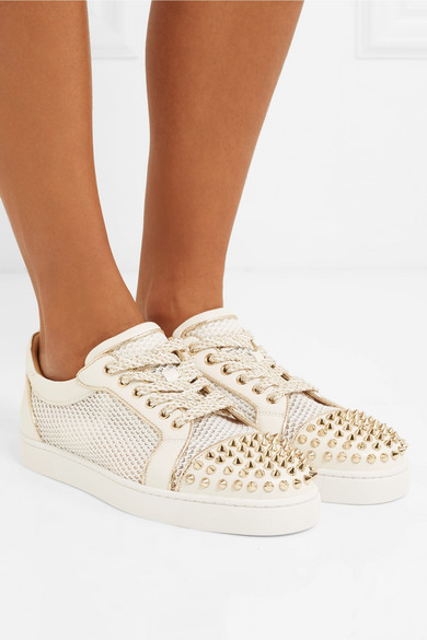 save off a30ca 326d4 Christian Louboutin | AC Vieira Spike leather and mesh ...