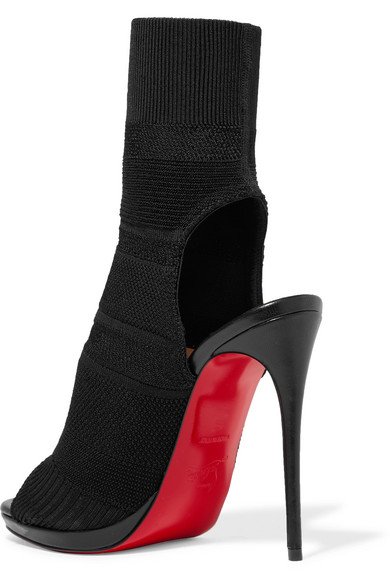 ed0b85893d55ad Christian Louboutin   Cheminene 120 cutout stretch-knit sock boots ...
