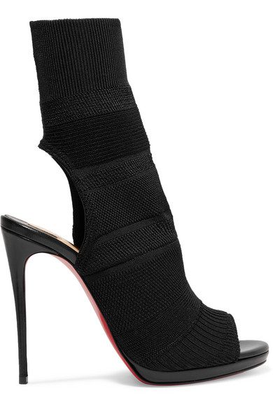 christian louboutin laine bottines peep toe