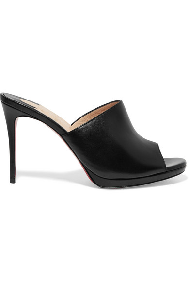 Christian Louboutin Pigamule 100 Mules Of Leather