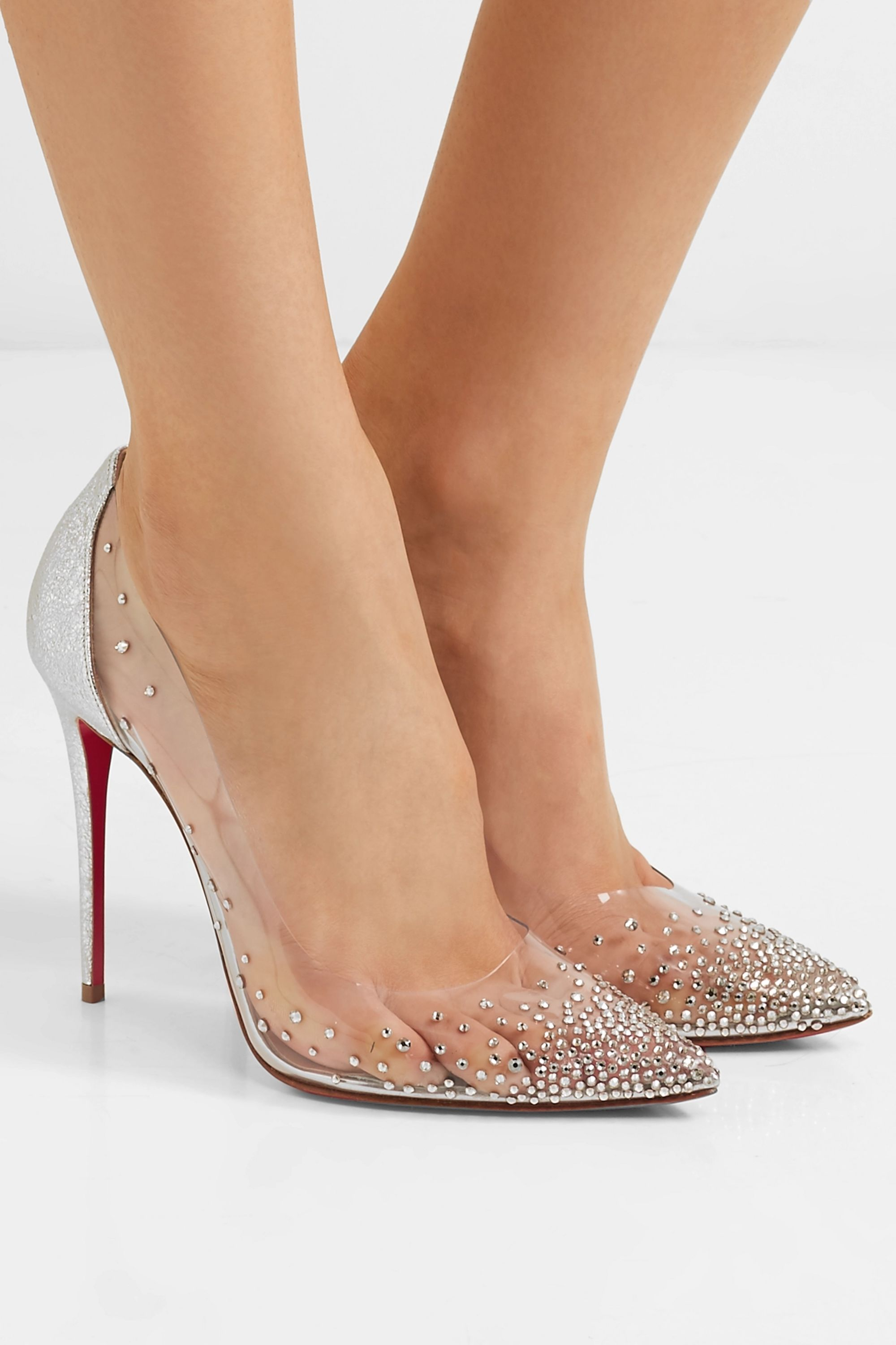 chaussure louboutin argente