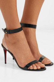 Jonatina 85 PVC-trimmed leather sandals