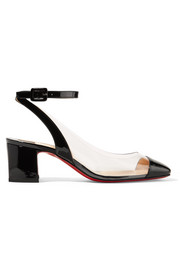 Christian Louboutin Asticocotte 55 patent-leather and PVC pumps
