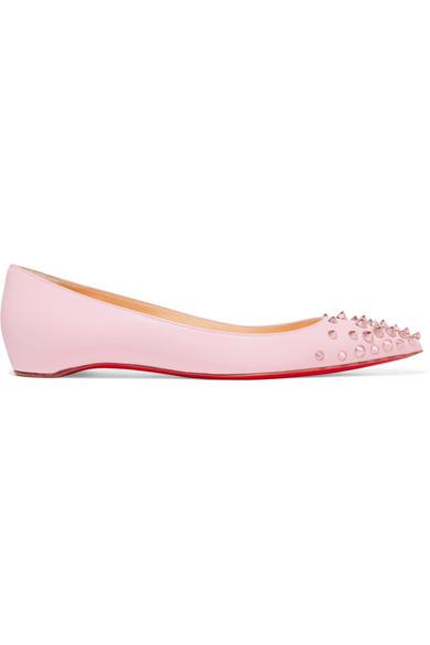 0c03645b5324 Christian Louboutin. Spikyshell embellished leather ballet flats