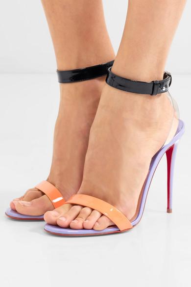 Christian Louboutin | Jonatina 100 PVC-Besätzen Sandalen aus Lackleder mit PVC-Besätzen 100 9265cc