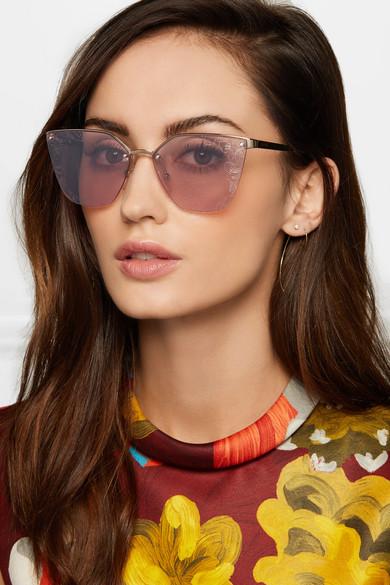 9c21b886f57 Prada. Cat-eye acetate and silver-tone sunglasses. £125. Zoom In