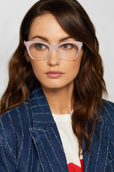 8a363648a8 Miu Classy Cat Eye Enamelled Gold Tone Optical Glasses. Zoom In. Miu Cat Eye  Acetate Optical Glasses A Porter