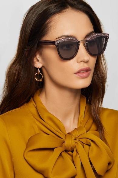 b47f90c27592 Miu Miu. Cat-eye glittered acetate sunglasses.  198.24. Zoom In