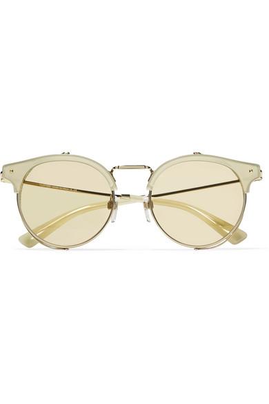 c78a91a046 Valentino. Cat-eye gold-tone and acetate sunglasses