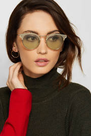 Valentino Cat-eye gold-tone and acetate sunglasses