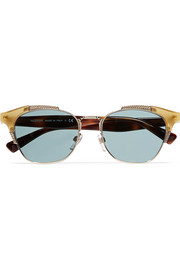Valentino Cat-eye acetate and gold-tone sunglasses