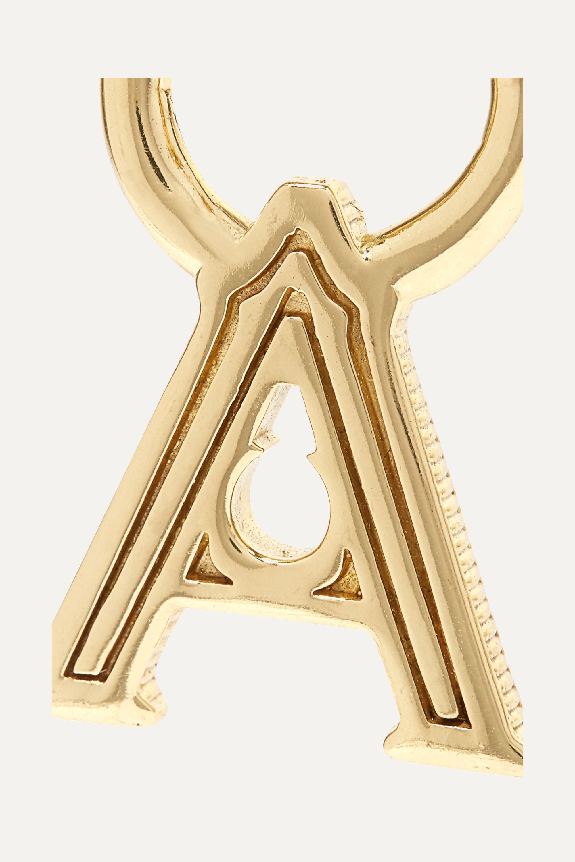 Ellery A-Z  Alphabet vergoldeter Ohrring