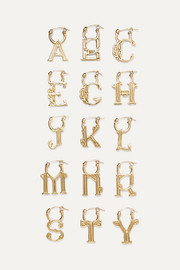 EXCLUSIVE A-Z Alphabet gold-tone earring