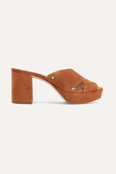 f316adfc248547 Sam Edelman Women S Jayne Suede Platform High-Heel Slide Sandals In ...