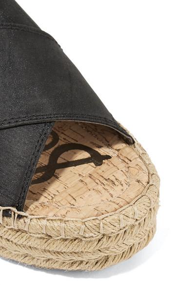 Breite Palette Von Billig Verkauf Sehr Billig Sam Edelman Natty Espadrille-Pantoletten aus Dupionseide mit Plateausohle 7o5JM