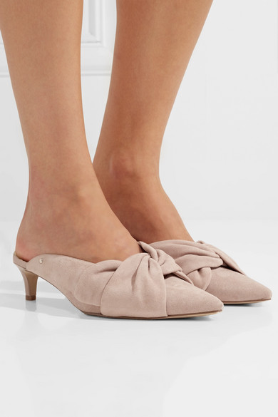 Sam Edelman Laney Suede Bow Dress Mules
