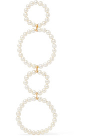 Sky Holiday 18-karat gold freshwater pearl earring