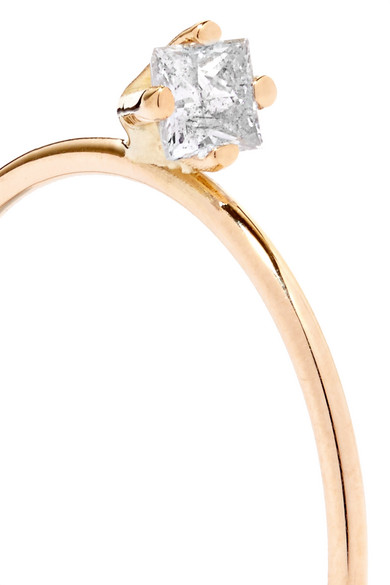 Saskia Diez Dirty Gold Diamond Ring RrUIN6W5