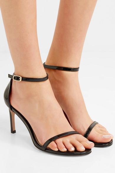 a643dd1abc Stuart Weitzman   Nudist patent-leather sandals   NET-A-PORTER.COM