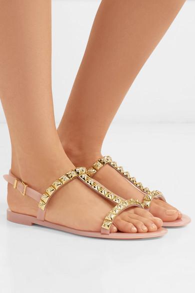 Stuart Weitzman Jelrose Studded Rubber Sandals - Blush 2018 Cheap Price Clearance Cost tmI1ELuR