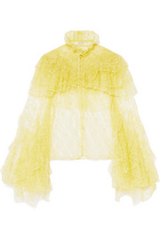 Rodarte Ruffled lace blouse