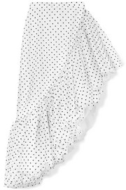 Rodarte Ruffled polka-dot flocked tulle skirt