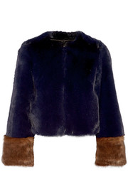 Juliette two-tone faux fur coat