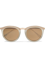 No Smirking round-frame acetate mirrored sunglasses
