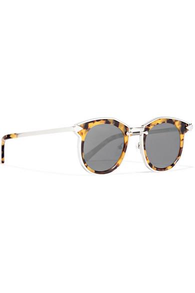 0cf4a1daa43 Karen Walker. Bounty round-frame tortoiseshell acetate and gold-tone  sunglasses