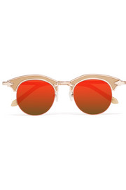 Buccaneer cat-eye acetate and gold-tone sunglasses
