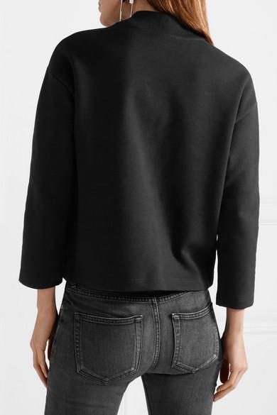 Balenciaga Femme Fatale besticktes Sweatshirt aus Jersey aus Stretch-Baumwolle