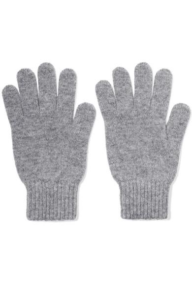 Johnstons of Elgin - Cashmere Gloves - Light gray