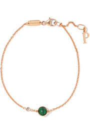 Possession 18-karat rose gold, malachite and diamond bracelet