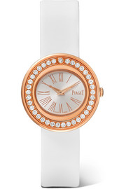 Possession satin, 18-karat rose gold diamond watch