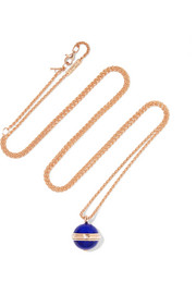 Possession 18-karat rose gold, lapis lazuli and diamond necklace