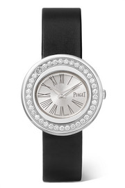 Possession satin, 18-karat white gold diamond watch