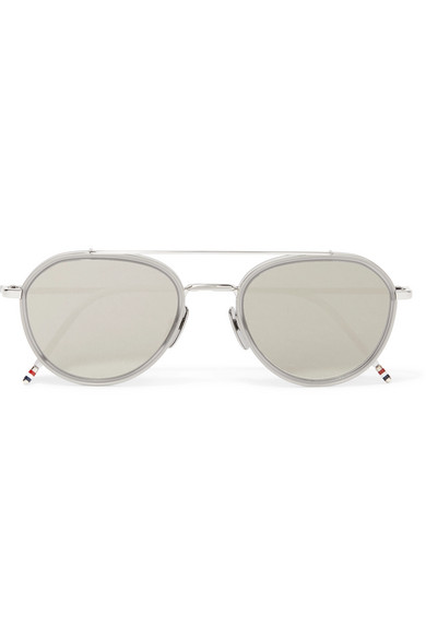And Thom Frame Mirrored Browne Acetate Silver Tone Round ZX7wE7xqr8