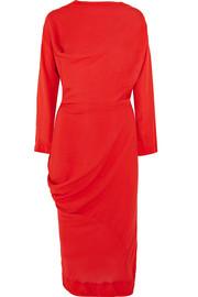Vivienne Westwood Anglomania New Fond asymmetric draped voile midi dress 989ac7816