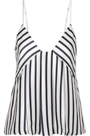 Kera striped silk-charmeuse camisole