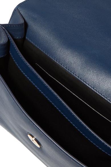 JW Anderson Logo Schultertasche aus Leder Billig Rabatt Authentisch Md6H1z
