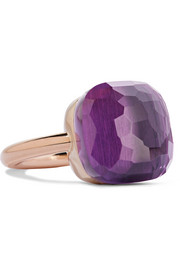 Nudo Assoluto 18-karat rose gold amethyst ring