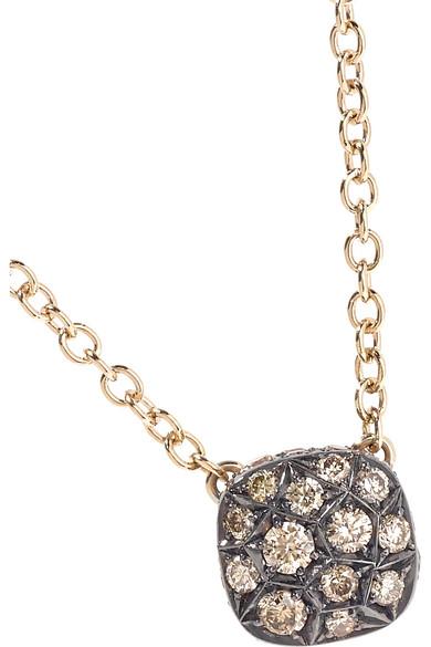 POMELLATO Nudo 18-karat Rose Gold Diamond Necklace apo4Ea