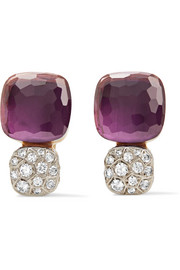 Nudo Solitaire 18-karat rose gold, amethyst and diamond earrings