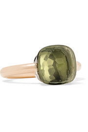 Nudo Classic 18-karat rose and white gold prasiolite ring